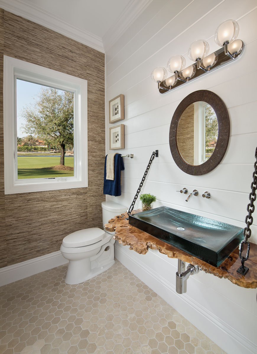 Golf Dream Home Powder Room