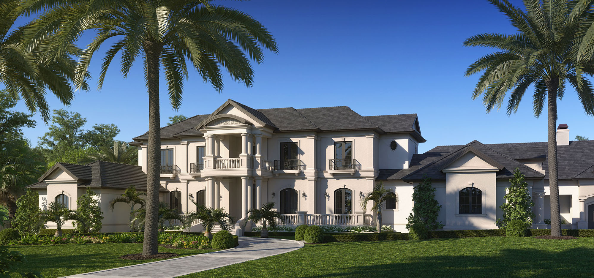 Classical French Estate Home Front